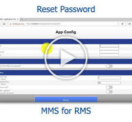 Tutorial - Reset your password in MMS for RMS