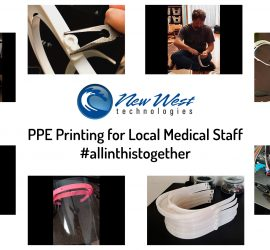 New West Technologies Printing PPE for local medical staff
