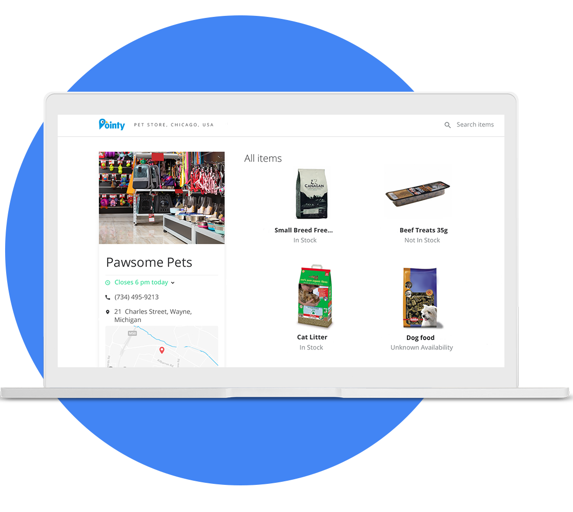 Pointy Integration for Retail Management Hero (RMH) - Pointy Page